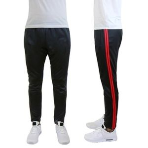 Slim-Fit Striped Jogger Track Pants with Pockets